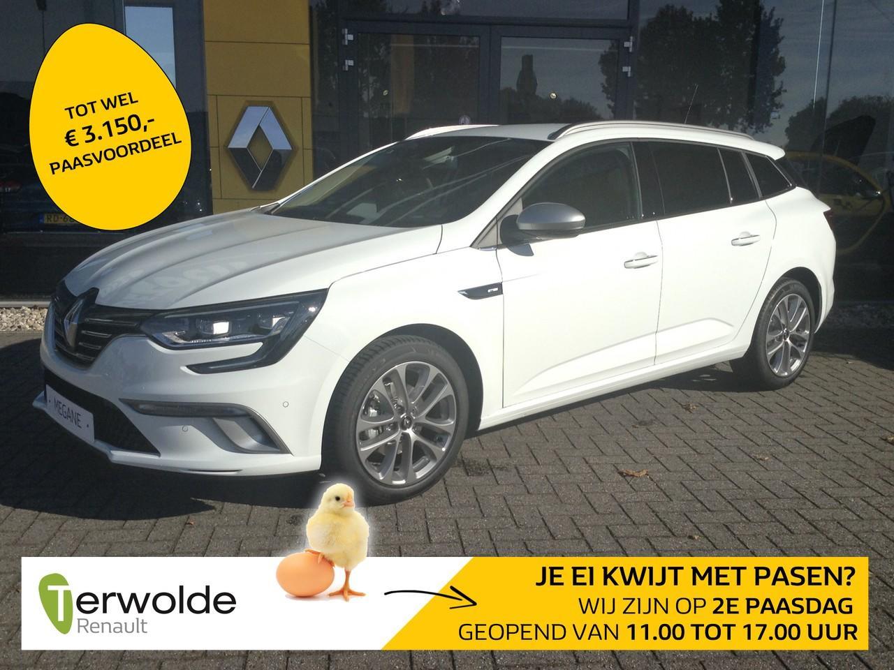Renault Mégane Estate tce 140 gt-line nieuw en uit voorraad leverbaar! financieren tegen 3,9% rente !  eur 3.459,- korting!