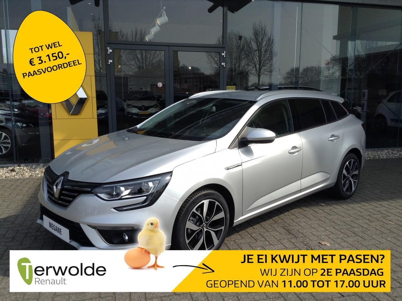 Renault Mégane Estate 1.3 tce bose nieuw en uit voorraad leverbaar! financieren tegen 3,9% rente ! eur 3.459,- korting!