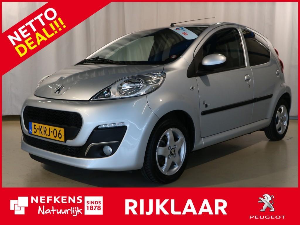 Peugeot 107 1.0 68 pk black & silver netto deal & rijklaar