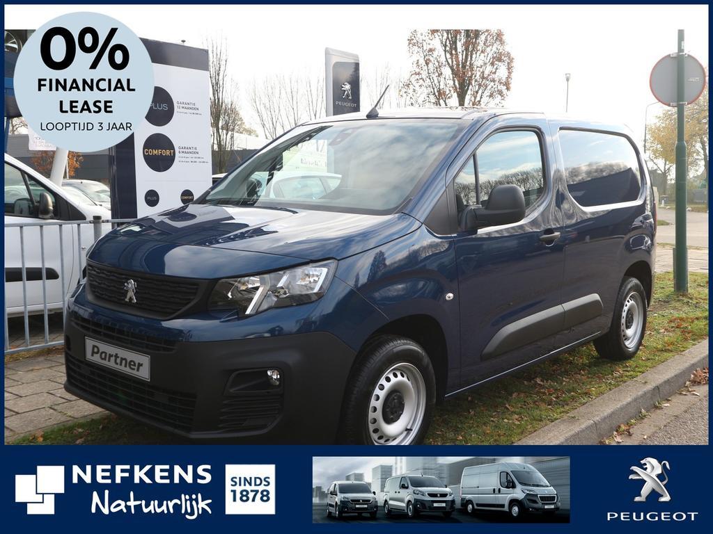 Peugeot Partner 1.6 bluehdi 100 pk 120 l1 premium s&s 650kg nieuw model! financial lease 0% rente