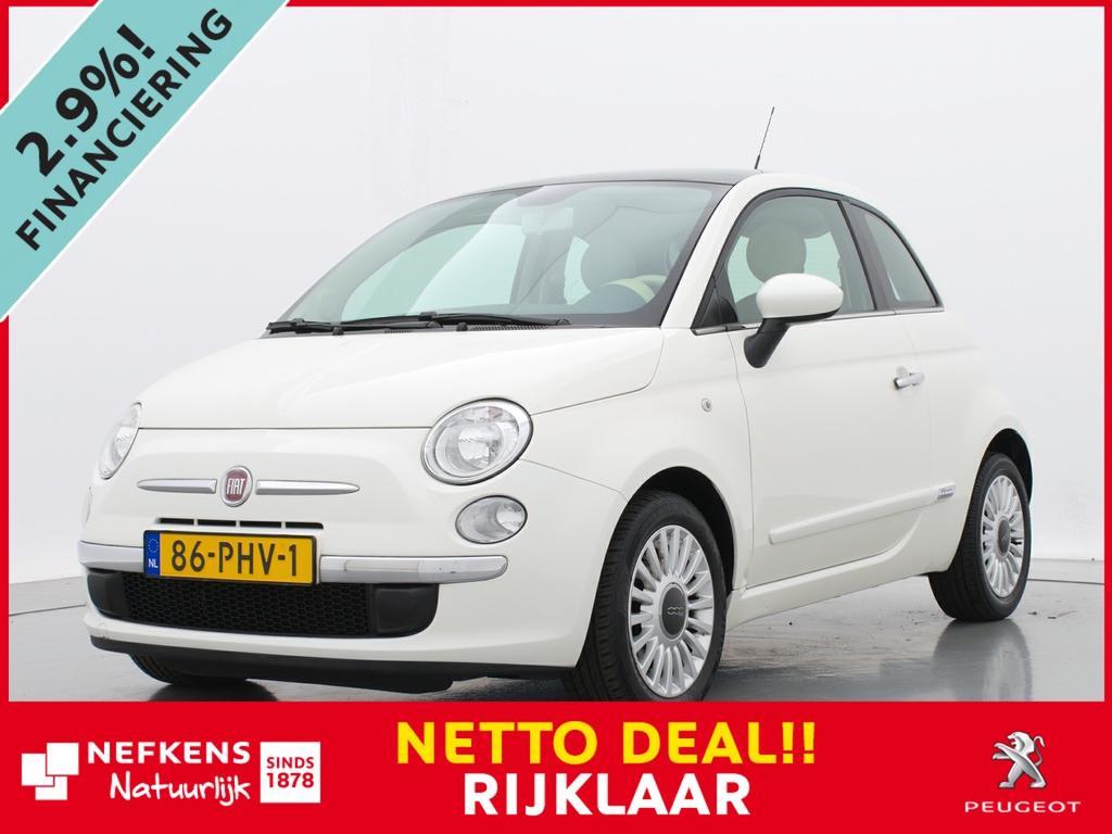 "Fiat 500 1.2 lounge dualogic automaat * airco * panoramadak * 15"" lm velgen *"