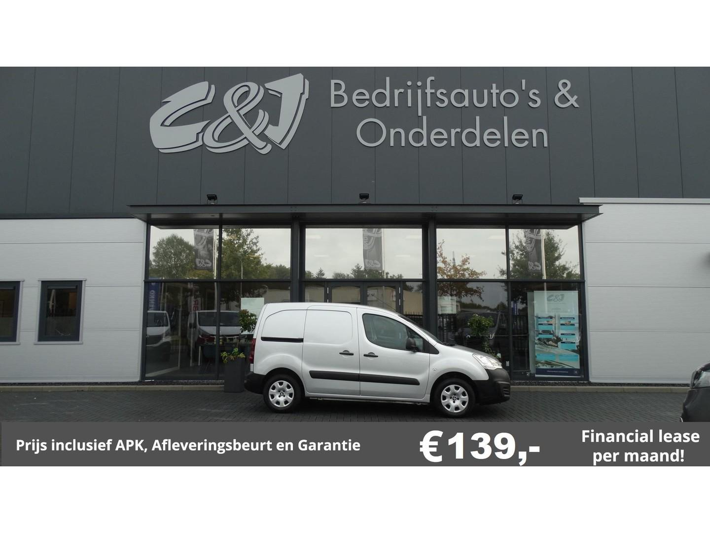 Peugeot Partner 120 1.6 hdi 90 l1 xr ac cruise control lease 139,- p/md