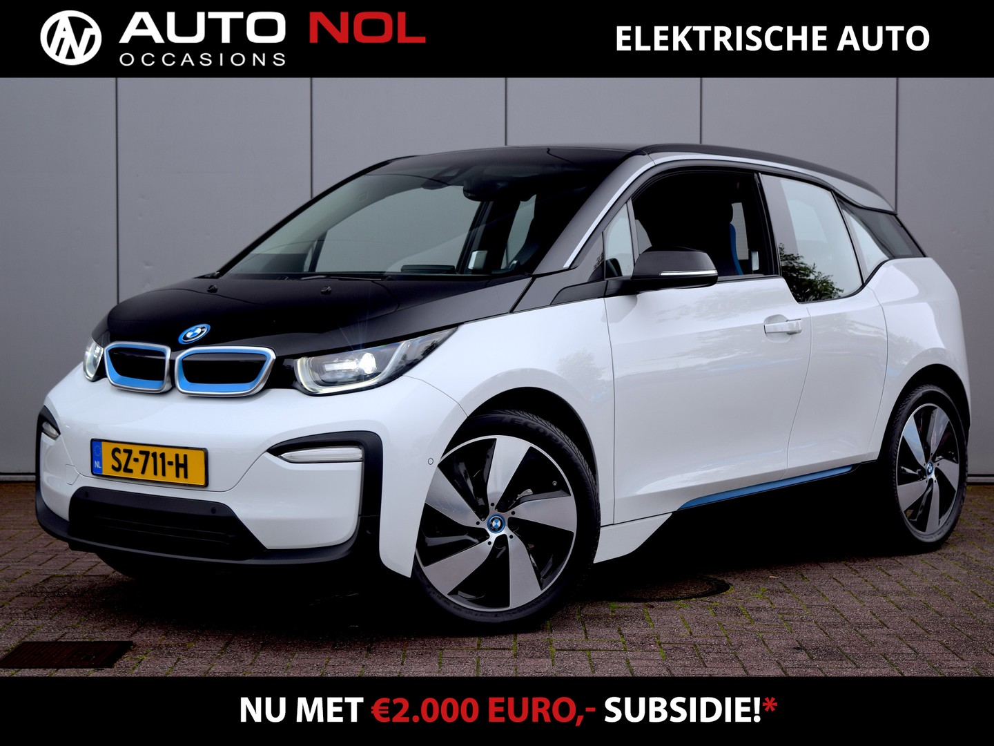 Bmw I3 Basis iperformance 94ah 33 kwh excl. btw netto bijtelling €75,- file assistent camera pdc adaptieve cruise clima navi stoelverwarming lm19""