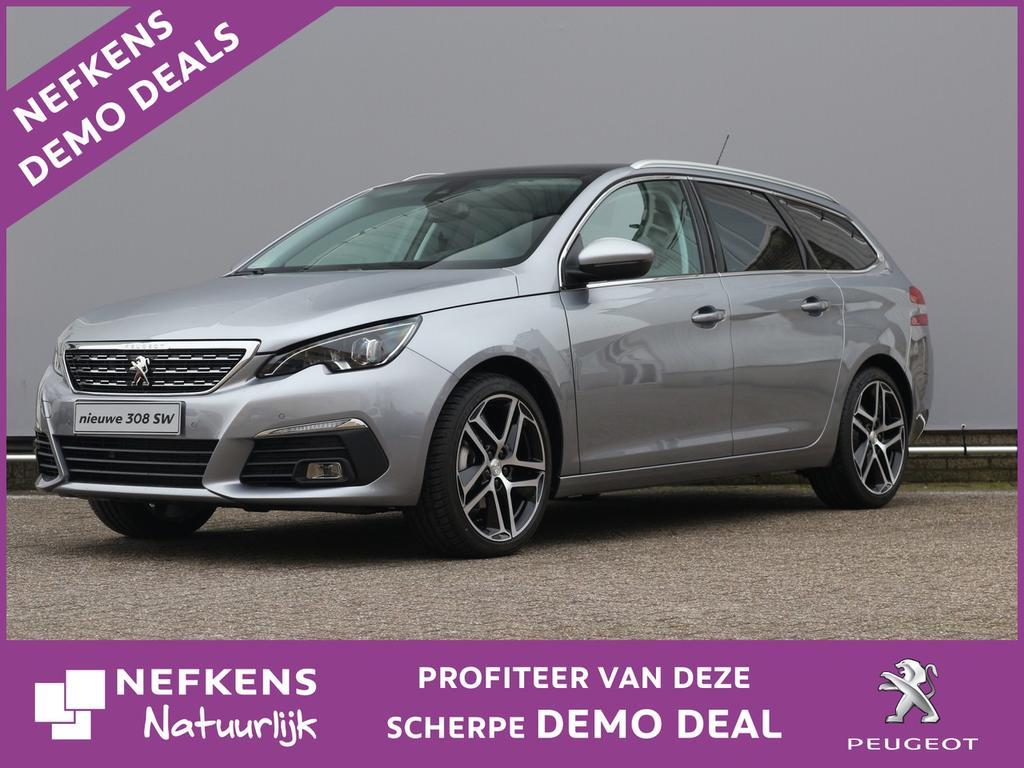 Peugeot 308 Sw 1.2 130 pk automaat blue lease premium lederen bekleding / panoramadak / navigatie