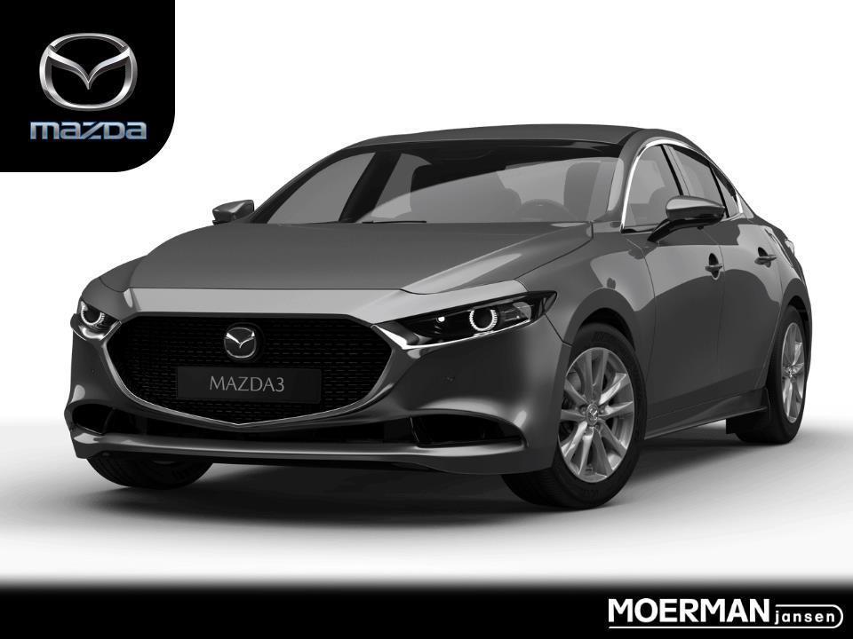 Mazda 3 Luxury / i-activsense pack / hybrid / leder / navigatie / traffic jam assist / uit voorraad leverbaar