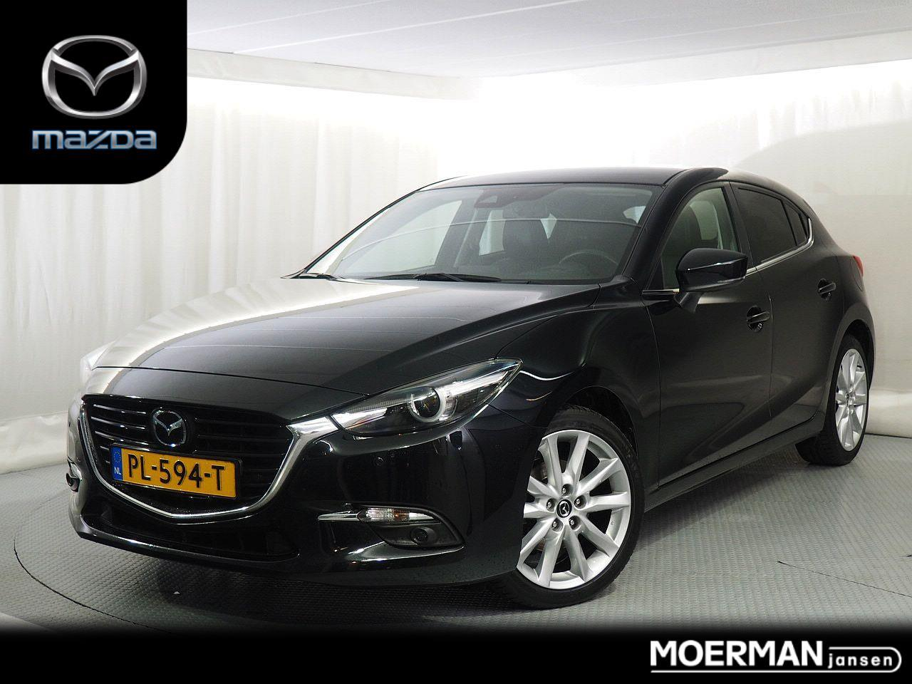 Mazda 3 2.0 gt-m automaat / navigatie / head-up display / leder / bose install. / 1e eig /  dealeronderhouden