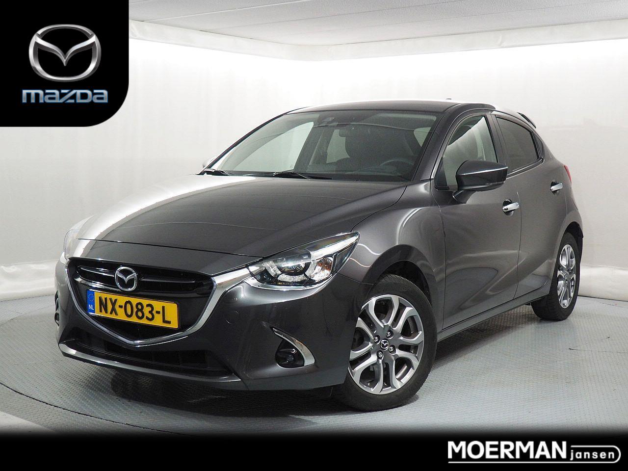 Mazda 2 1.5 gt-luxury / leder-alcantara / camera / head-up display / keyless entry / navigatie / apple carplay