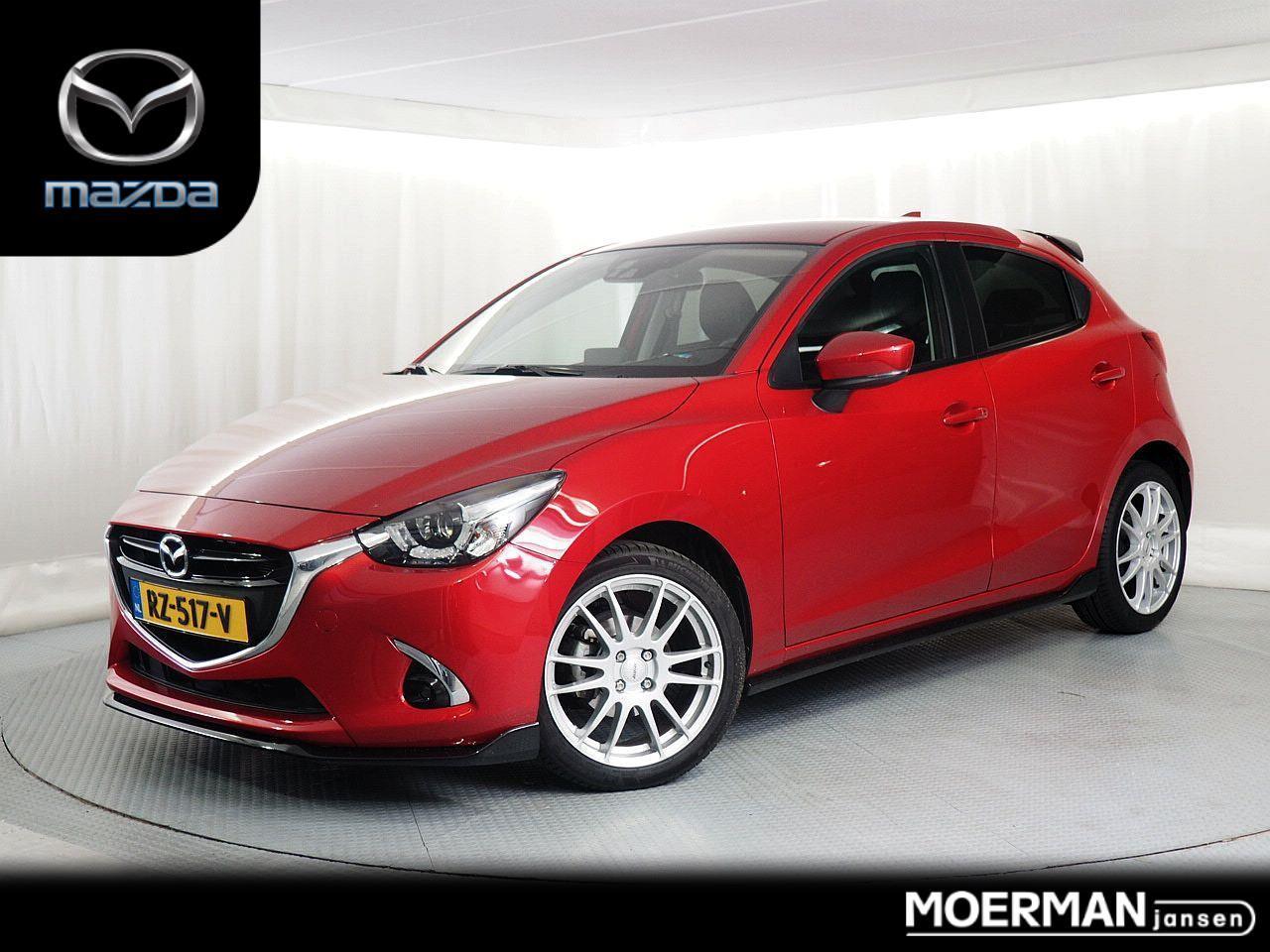 Mazda 2 1.5 skyactiv-g gt-luxury / aero pakket / 17 inch velgen / dealer onderhouden / 1e eig / navigatie / leder