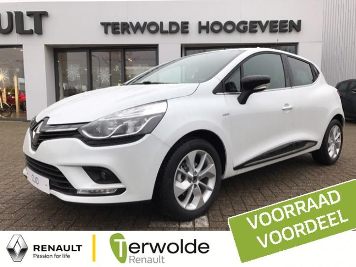 Renault Clio 0.9tce 90pk limited blanc glacier € 2.450,- korting