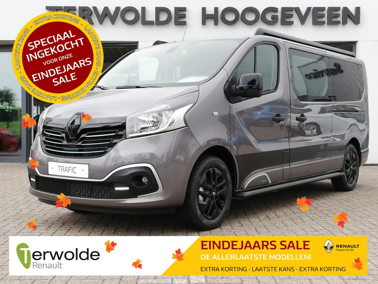Renault Trafic 1.6dci 145pk twinturbo nedc t29 l2h1 dc limited €11.640,- korting! 29%! financial lease 0%! uit voorraad!
