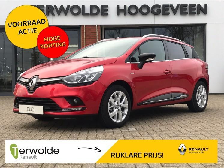 Renault Clio Estate 0.9tce 90pk limited uit voorraad leverbaar! €2.741,- korting! financiering tegen 3,9% rente! private lease mogelijk!