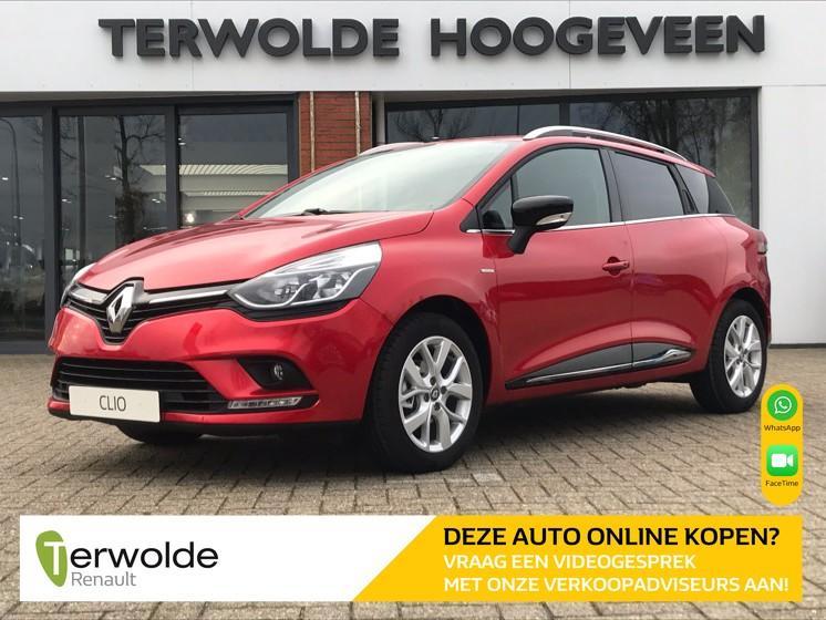 Renault Clio Estate 0.9tce 90pk limited uit voorraad leverbaar! €3.250,- korting! financiering tegen 3,9% rente! private lease vanaf €319,-!