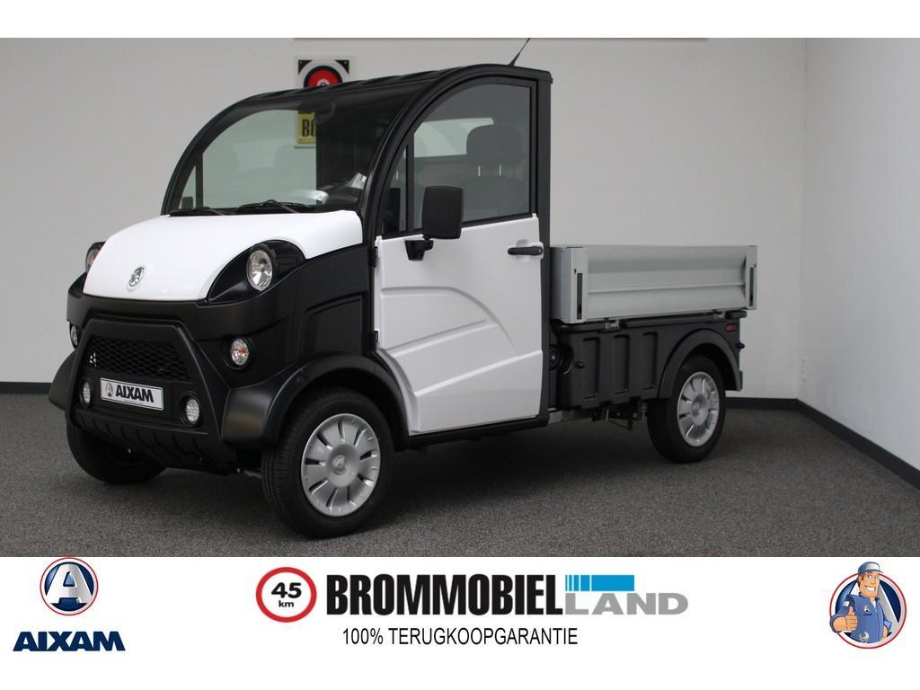 Aixam  E-truck laadbak nieuw elektrisch 80km actieradius ! brommobiel 45km auto