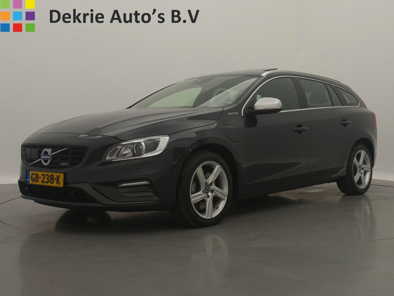 Volvo V60 2.4 d6 awd * € 17990,- * incl. plug-in hybrid r-design / schuifdak / leder / navi - camera / airco-ecc / cruise ctr. / harman kardon / pdc / trekhaak / lmv