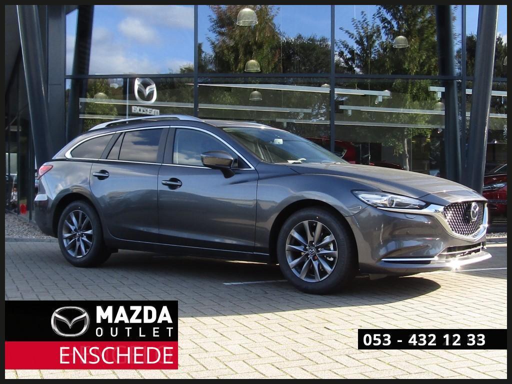 Mazda 6 Eur 5.645 voordeel 2.0i automaat comfort plus navi/leder/360view