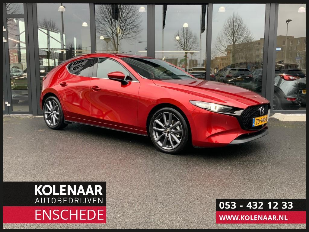 Mazda 3 2.0i 122pk luxury navi/bose/leer/radar cruise/nieuwste model