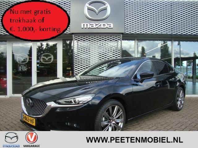 Mazda 6 2.0 skyactiv-g signature automaat nu met gratis trekhaak of €. 1.000,- korting!!!