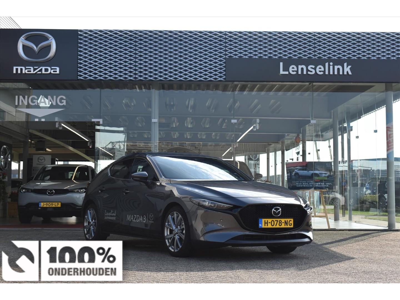 Mazda 3 Hatchback skyactiv-g 122pk luxury i-activ / leder / navi / stoelverwarming / led / ecc *demo*