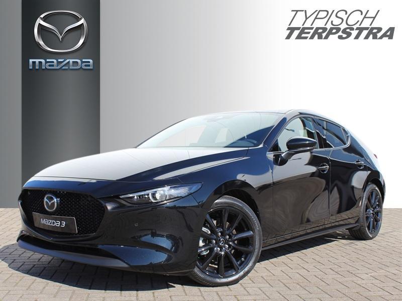 Mazda 3 Hb skyactiv-x 180 m hybrid luxury/dieprood leer pakket