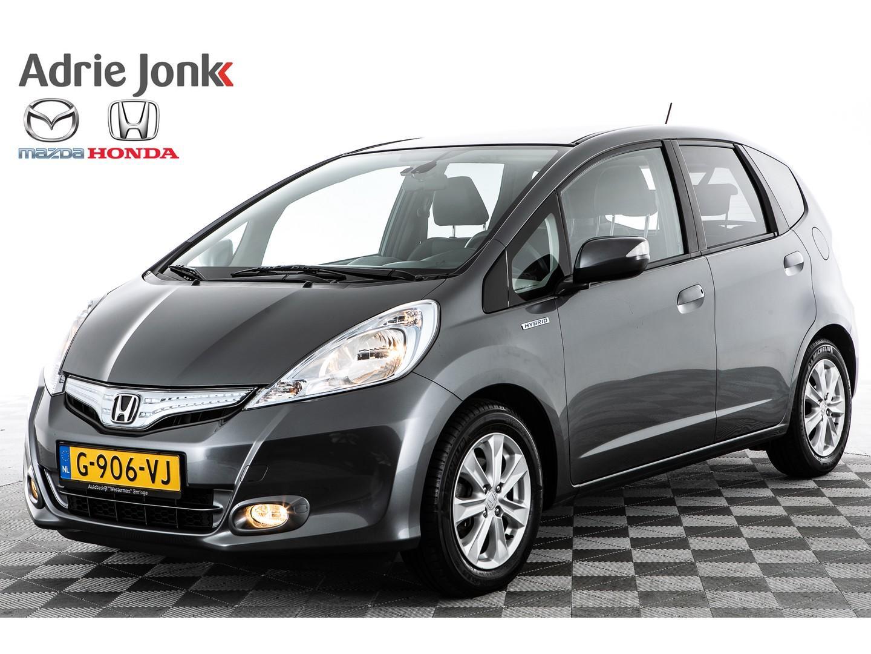 Honda Jazz 1.4 hybrid exclusive navi leder panodak 24 mnd garantie rijklaar!!