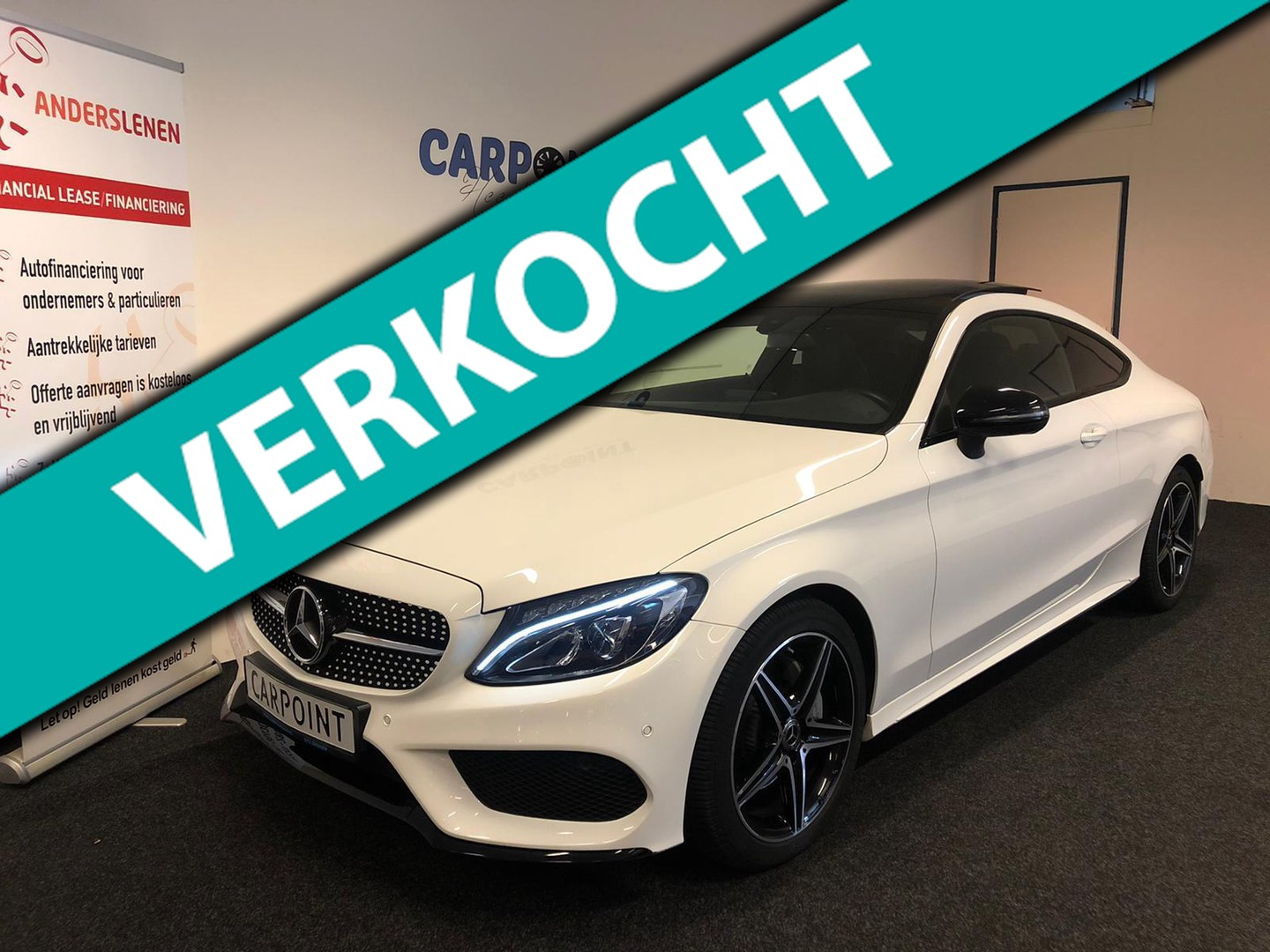 Mercedes-benz C-klasse Coupé 180 premium pack 2018 amg*night*camera*panodak*sfeer verlichting*vol