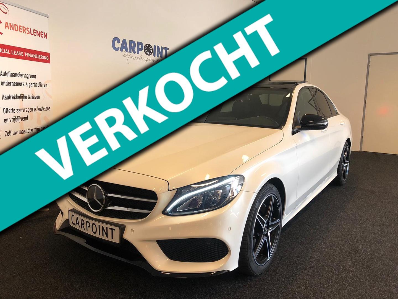 Mercedes-benz C-klasse 180 amg line premium plus upgrade 2018*parelmoer wit*amg+night pakket*panodak
