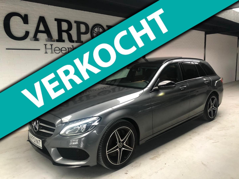 Mercedes-benz C-klasse Estate 250 2018*amg*night*panodak*leer*vol*fabr garantie aug 2021