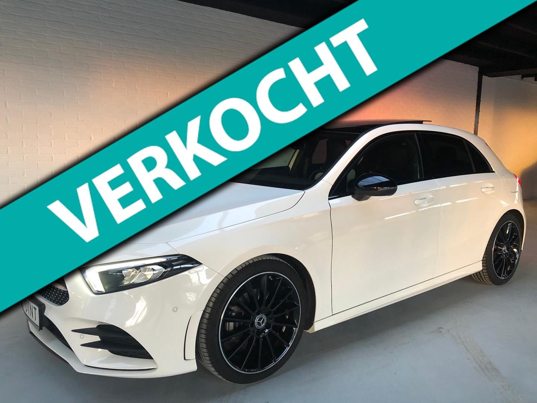 Mercedes-benz A-klasse 200 business solution amg night upgrade 2018 widescreen*panodak*sfeerverl*360 camera*leer*fabr garantie vol