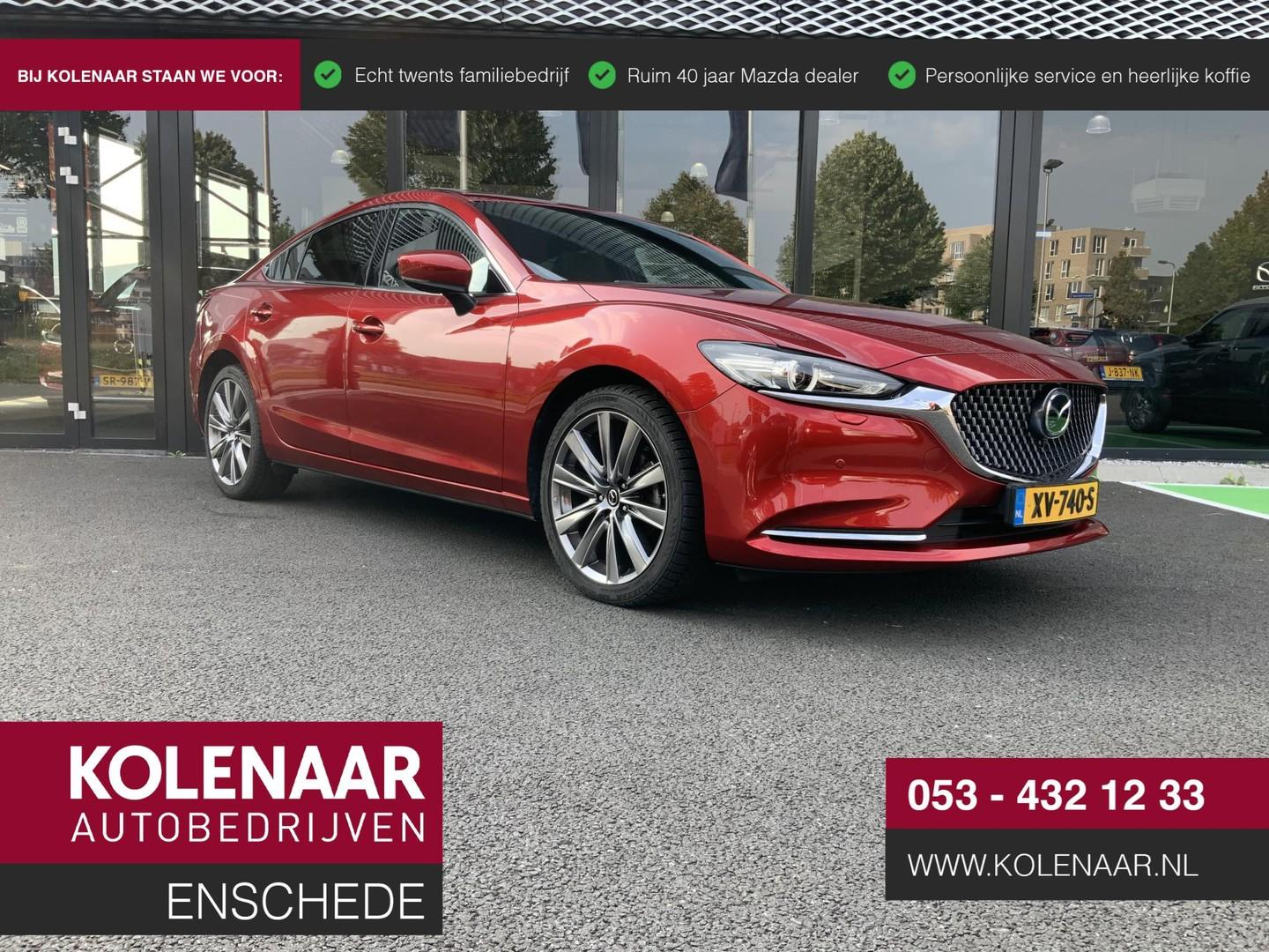 Mazda 6 2.0 skyactiv-g signature schuifkanteldak/zwarte hemel/nappa leder/360 graden camera/head-up display