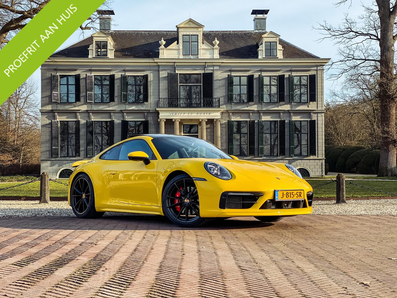Porsche 911 3.0 carrera s btw-auto/ sport chrono/ speed yellow/ schuifdak/ nw prijs 225.000,-!