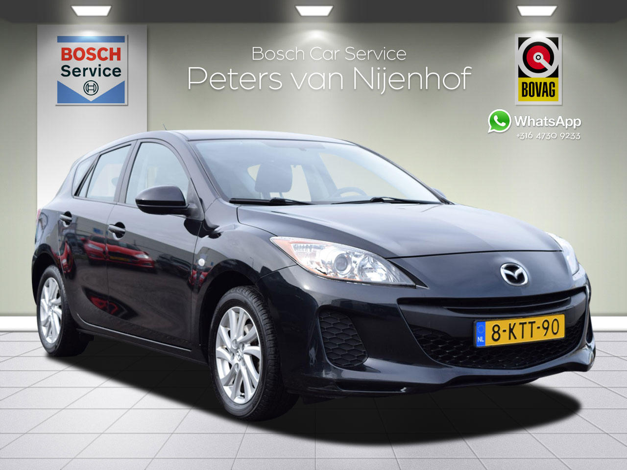 Mazda 3 1.6 cool 5drs clima cruise 105pk 107dkm