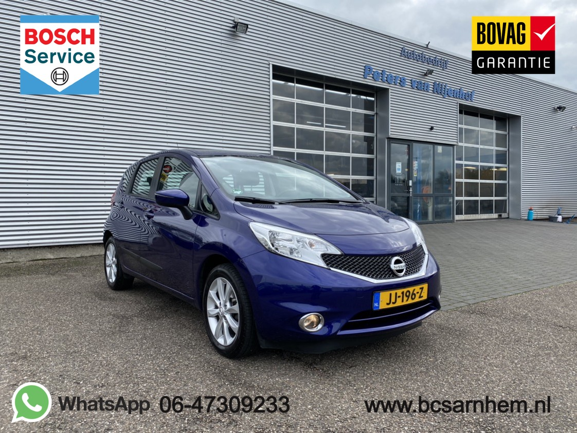 """Nissan Note 1.2 dig-s acenta 5drs pdc automaat airco cruise 16"""" trekhaak 98pk 15dkm"""