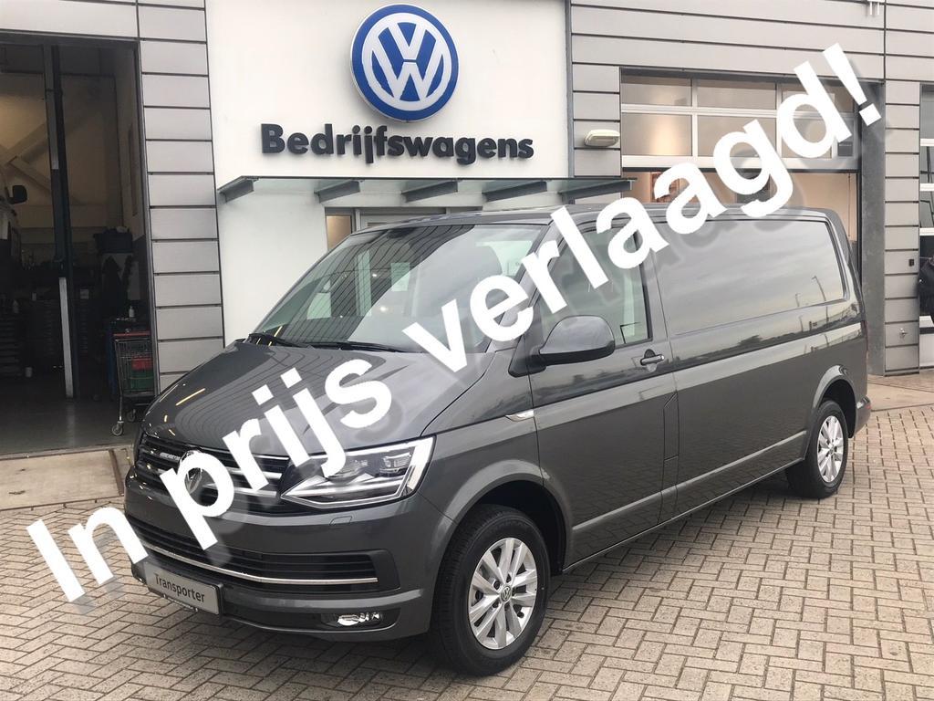 Volkswagen Transporter 2.0 tdi l2h1 highline dsg navi / led / leder rijklaar, incl. trh, vloer en wandbekleding