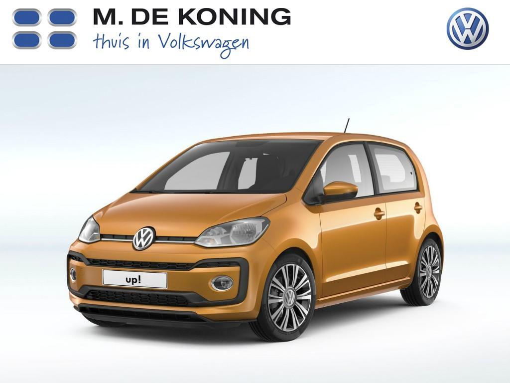 """Volkswagen Up! High up! 1.0/60pk · design pakket pixel woods · cruise control · 16""""lm velgen"""