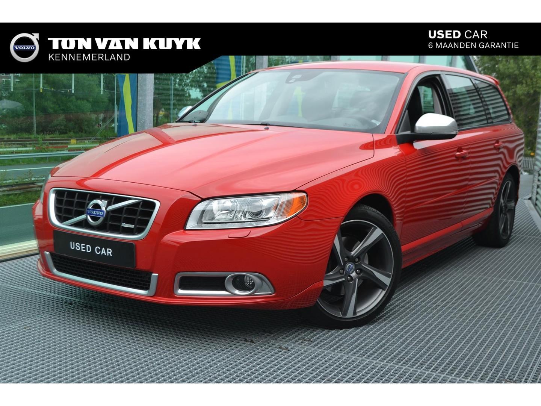 Volvo V70 T4 start/stop 180pk r-design / leder / trekhaak / spoiler / 18 inch / navigatie / xenon / bluetooth