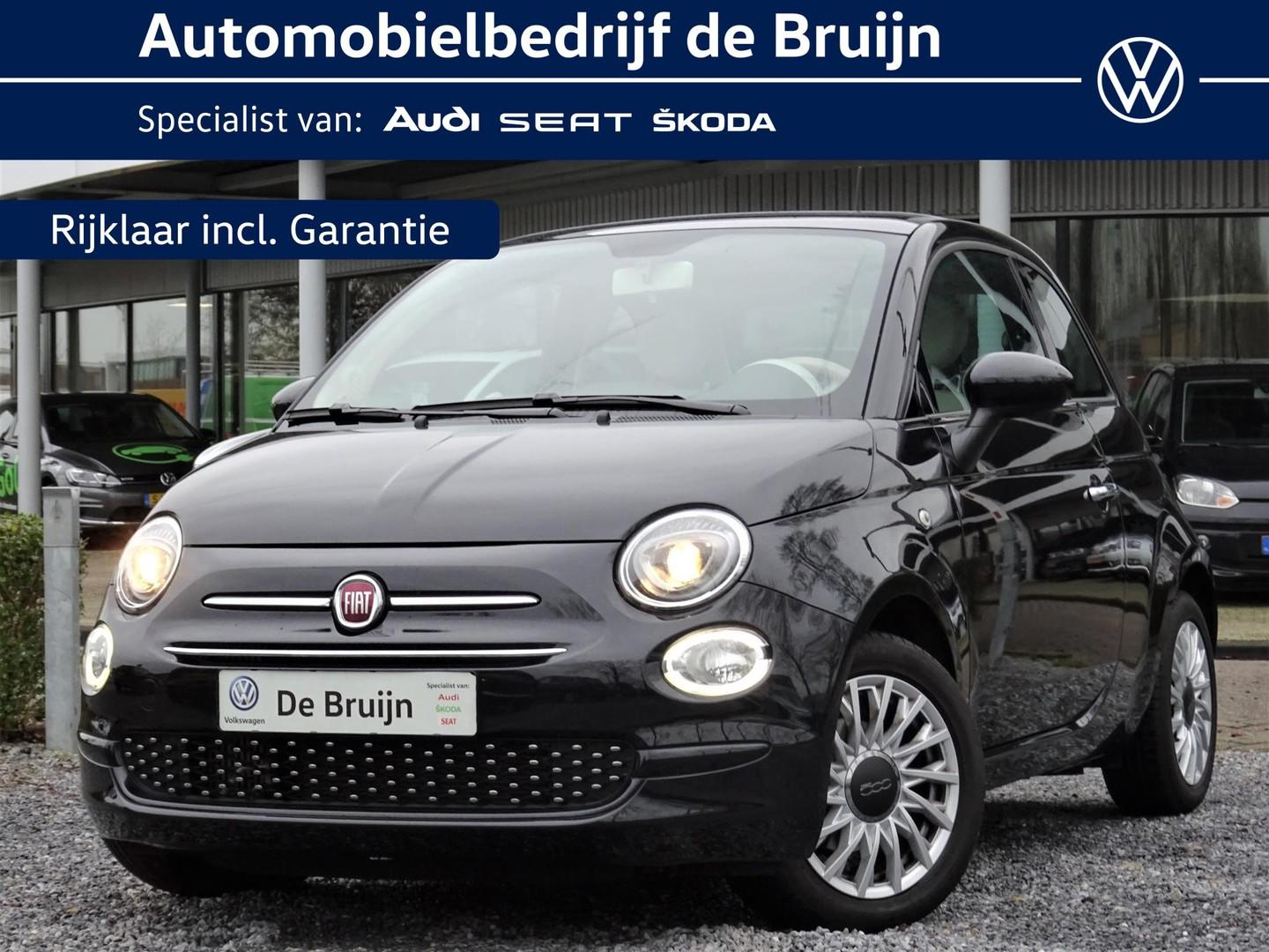 Fiat 500 Turbo lounge 80pk (glasdak,cruise,lm)