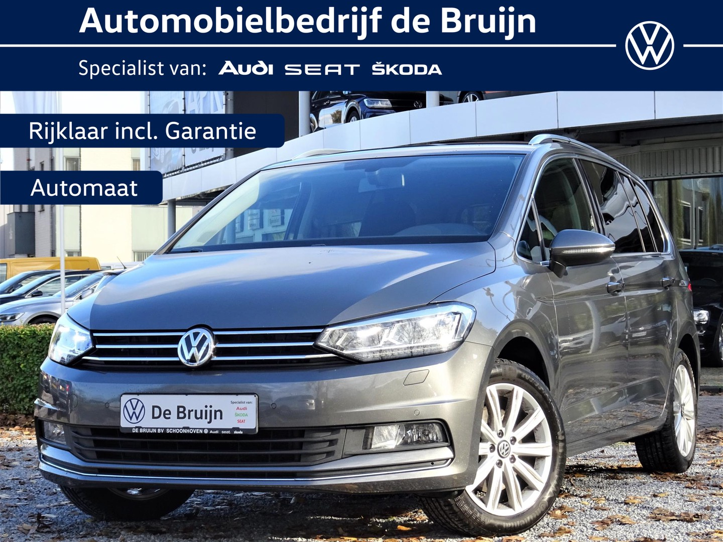 Volkswagen Touran Highline 1,4 tsi 150pk dsg 7pers (navi,camera,led,privacy)