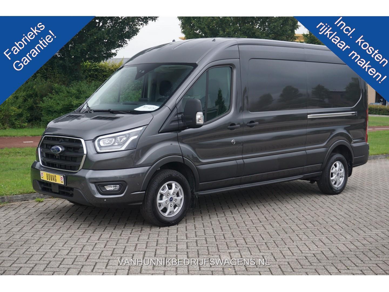 Ford Transit 350l 185pk l3h2 limited aut €430 / maand airco navi cam adapt. cruise, xenon, 2x schuifdeur!! nr. 409