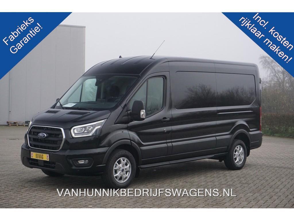 Ford Transit 350l 185pk l3h2 limited aut €421 / maand airco navi cam adapt. cruise, xenon, lmv!! nr. 408