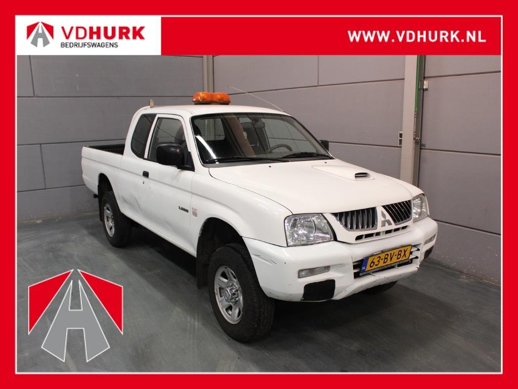 Mitsubishi L200 2.5 tdi club cab marge auto! airco/trekhaak/4x4/pick up