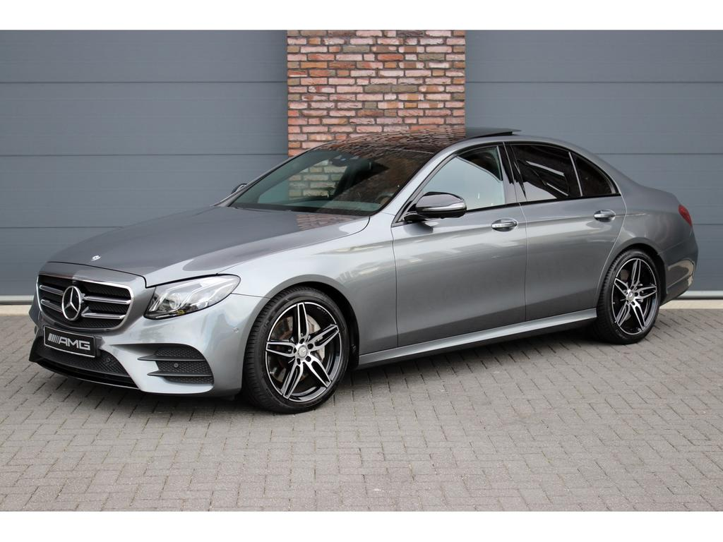 Mercedes-benz E-klasse 400 4-matic amg aut9, luchtvering, distronic+, panoramadak, nappa leder, memory, widescreen cockpit, head-up display, apple carplay, burmester, multibeam led, keyless-go, etc.