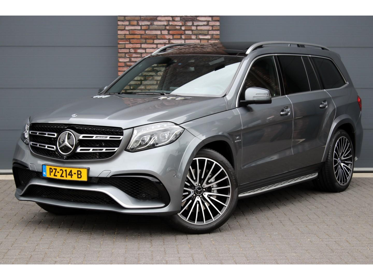 Mercedes-benz Gls 63 amg 4-matic aut7, amg drivers package, distronic+, massage, panoramadak,airmatic,7 zitplaatsen, stoel-verwarming/ventilatie, memory, comand, surround camera, tv, harman kardon, keyless-go, apple carplay, elek. trekhaak, etc.