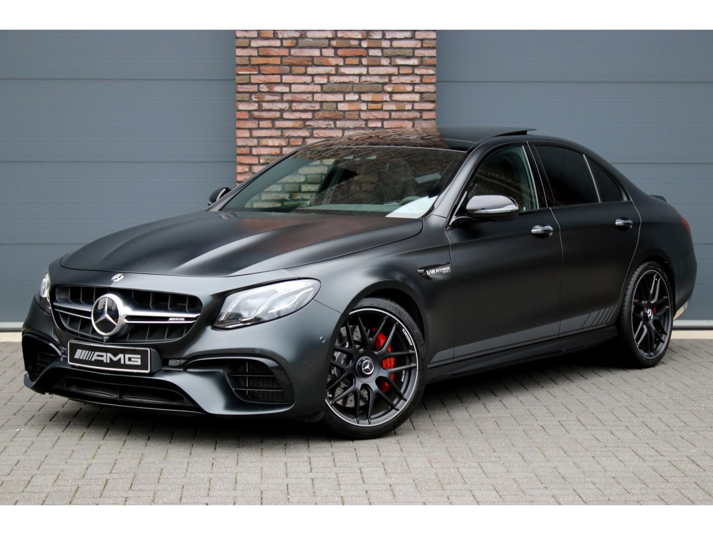 Mercedes-benz E-klasse 63 s amg 4-matic premium plus edition 1, luchtvering, distronic pro, panoramadak, performance stoelen, head-up, keyless-go, surround camera, burmester, carbon, designo, memory, etc.