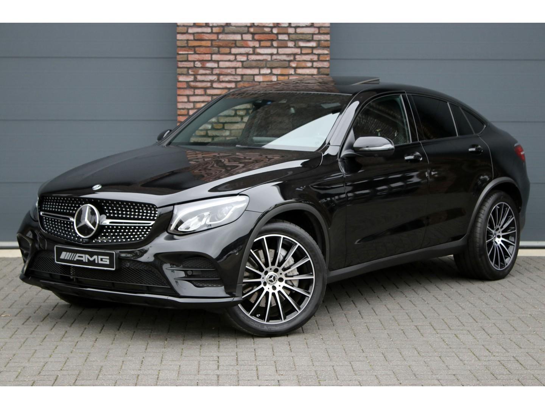 Mercedes-benz Glc-klasse Coupé 250 4-matic amg aut9, distronic+, comand, surround camera, burmester, leder, stoelverwarming, parkeer-assistent, rij-assistent, schuif/kanteldak, led high perf., nightpakket, etc.