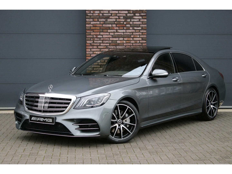 Mercedes-benz S-klasse 400d 4-matic lang premium plus amg aut9, luchtvering, distronic+, carbon, panoramadak, surround camera, head-up, burmester, energizing comfort, keyless-go, stoelverwarming/ventilatie v+a, memory v+a, entertainment achter, massage, leder exclusief, etc.