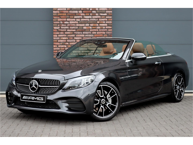 Mercedes-benz C-klasse Cabrio 180 premium plus amg aut9, distronic+, comand, surround camera, head-up display, keyless-go, aircap, airscarf, volledig leder, memory, burmester, dab+, rij-assistentie+, multibeam led, smartphone-integratie, etc.