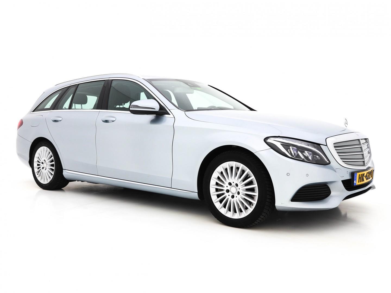 Mercedes-benz C-klasse Estate 350 e lease edition aut. (ex-btw)*led+volleder+navi+pdc+ecc+cruise*