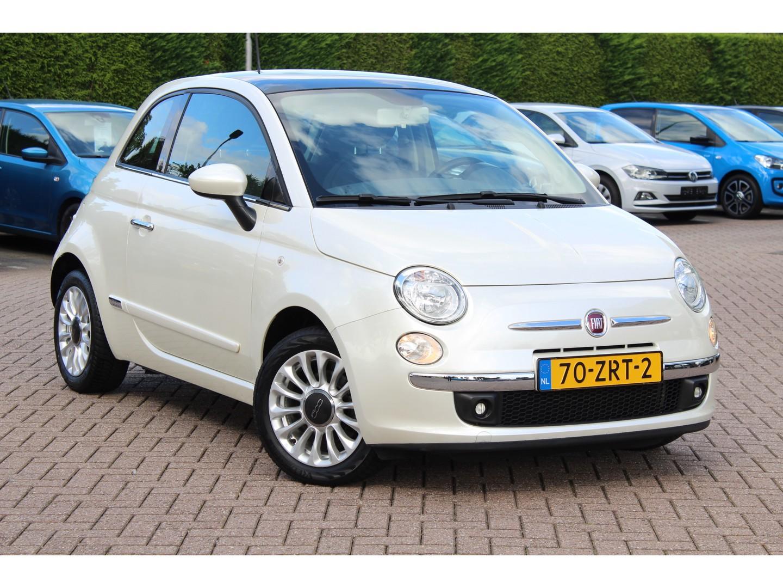 Fiat 500 1.0 twinair lounge 1e eign. / panoramadak / lmv / parelmoer / 52.437 km!!