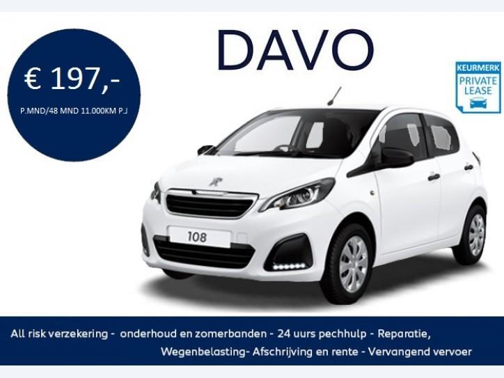 Peugeot 108 1.0 68pk 5dr active private lease aktie!