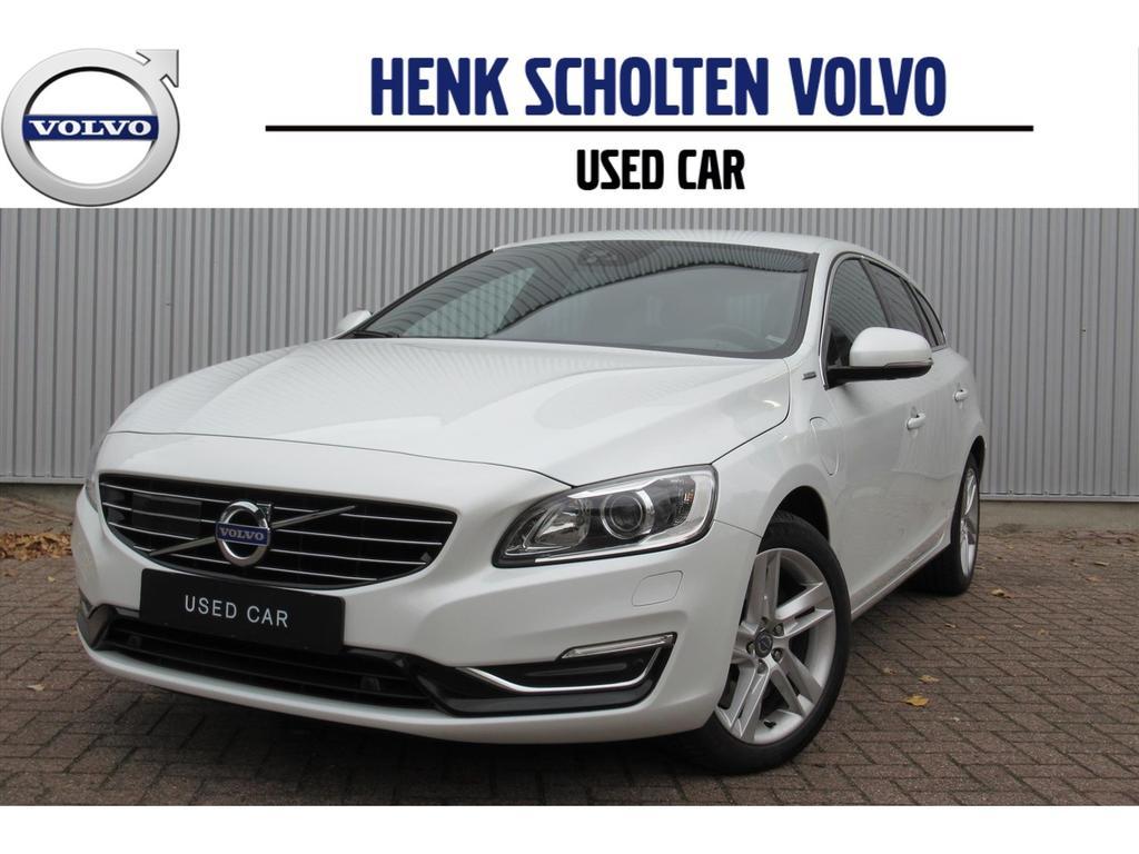 Volvo V60 D6 plug-in hybrid met 10 jaar accu garantie leder park assist